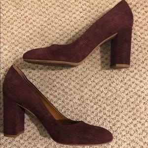 Maroon Franco Sarto Heels Shoes Sz 7.5